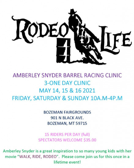 Amberley Snyder Barrel Racing Clinic