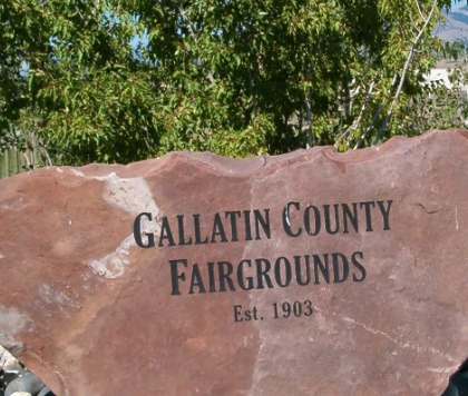 The Gallatin County Fairgrounds sign